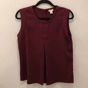 Burgundy sleeveless flowy top